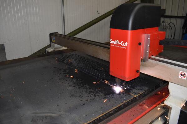 CNC Plasma Cutter Hard At Work